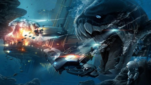 Artwork underwater dunkleosteus wallpaper
