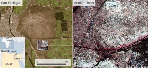 Egyptian pyramids found by infra-red satellite images